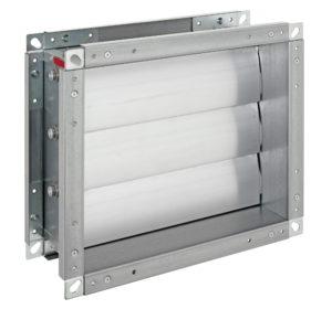 Rückschlagklappe aus verzinktem Stahl mit Aluminium Lamellen