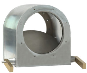 Pressure-relief damper round version with one blade