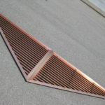 Lüftungsgitter aus Kupfer in Sonderformen