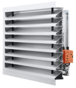 Combination with weather-proof louver and control damper