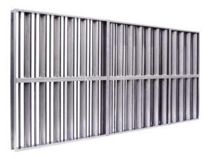Clapet de tunnel avec de lamelles verticale
