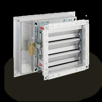 Wetterschutzgitter und Druckentlastungsklappe als Kombination