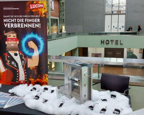 LUCOMA Stand, Kadertag Gebäudetechnik 2021